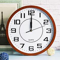 Настенные часы Quartz 501 диаметр 30 коричневые