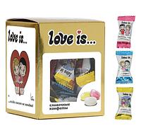 """Сливочные жев.конфеты """"Love is"""" Микс вкусов (Золото) 105гр / Турция/"""