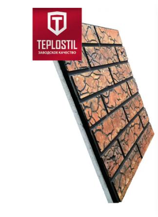 Термопанели Римский Кирпич 30 мм Пенопласт, под покраску