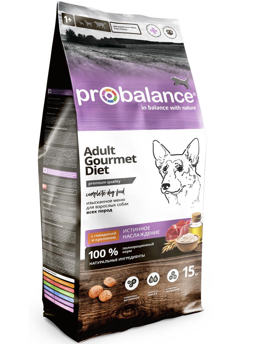 Пробаланс Сухой корм для собак с говядиной и кроликом