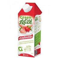 Green Milk напиток соевый со вкусом клубники, 750 мл