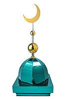 "Купол на мазар ""ШАХ"". Цвет зеленый с золотым плоским полумесяцем d-230 с 2-мя шарами. На колонну 39,5 х 39,5"