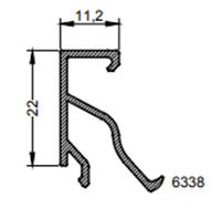 Ruit Штапик 11,2 мм новый дизайн 2-00-6338