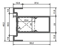 Оффициум Slim Створка дверная двойного остекленения (ДСП-10мм) 2-00-7201