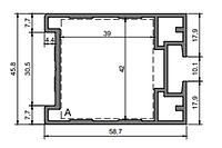 Оффициум Slim Створка дверная одинарного остекленения (ДСП-10мм) 2-00-7202