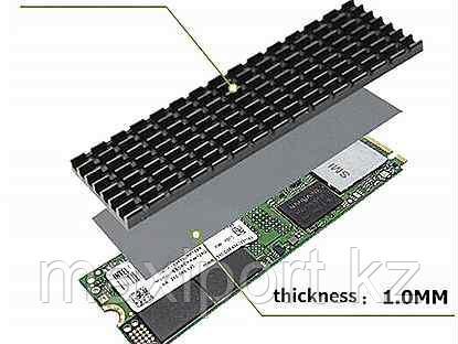 Охлаждение для SSD радиатор M.2 NGFF 2280 PCI-E NVME SSD  для майнинга, фото 2