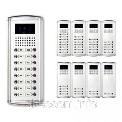 7179 ABCX-16 С Цветная вызывная панель многоабонентного видео домофона