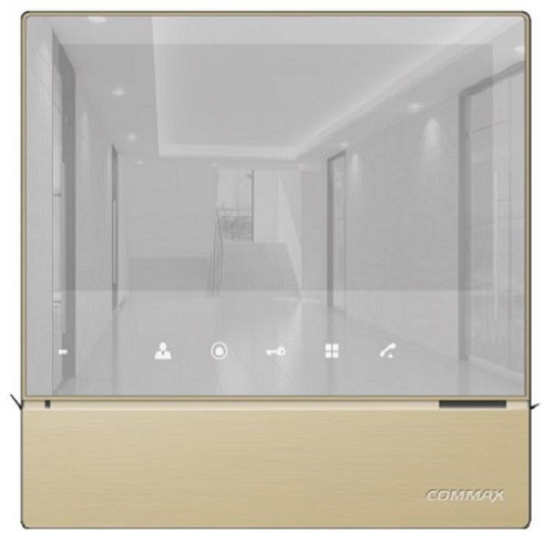 "COMMAX -  CDV-70H2(GOLD) - Дизайн ""MIRROR TYPE"""
