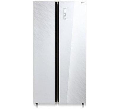 Холодильник Бирюса SBS 587WG (белое стекло)