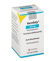 Вемлиди 25 мг, тенофовир алафенамид (tenofovir alafenamide)