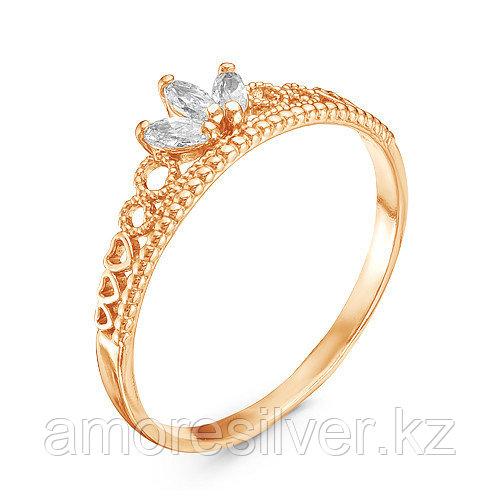 Кольцо Красная Пресня серебро с позолотой, фианит, корона 2389139