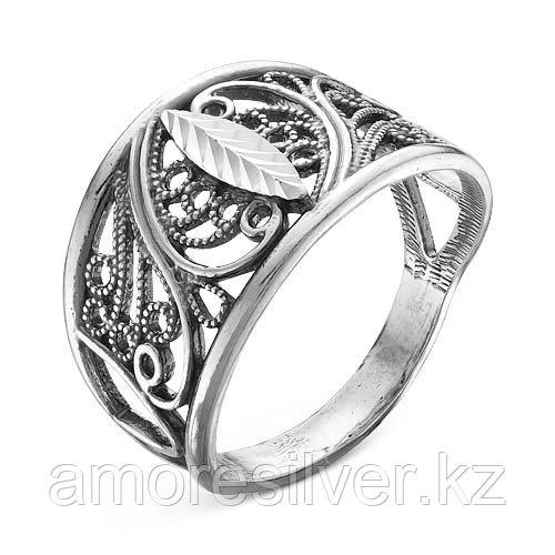 Кольцо Красная Пресня из черненного серебра, ажурное 2308016-5