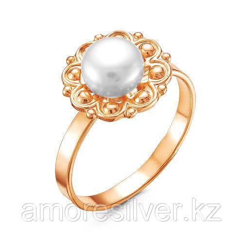 Кольцо Красная Пресня серебро с позолотой, ажурное 2338515