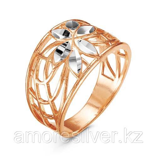 Кольцо Красная Пресня серебро с позолотой, флора 2308709-5
