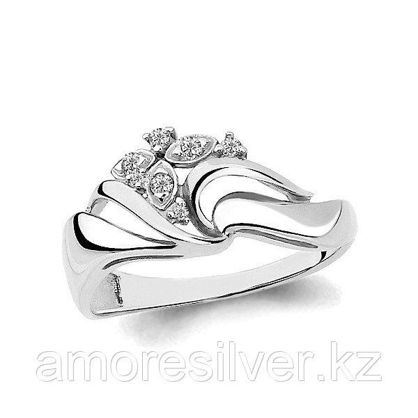 Кольцо Aquamarine серебро с родием, фианит, геометрия 64853А.5
