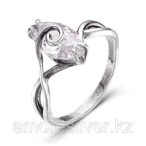 Кольцо Красная Пресня из черненного серебра, фианит, геометрия 2387850