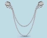 Брошь Аквамарин серебро с родием, фианит, геометрия 72682А.5
