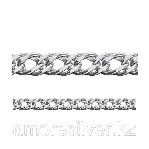 Цепь Адамант серебро с родием, без вставок, ромб двойной Ср925Р-106306060