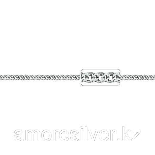 Цепь Адамант серебро с родием, без вставок, нонна Ср925Р-103604055