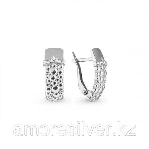 Серьги Aquamarine серебро с родием, фианит, фантазия 45593А.5