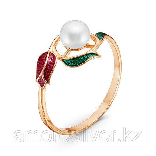 Кольцо Красная Пресня серебро с позолотой, флора 2339087