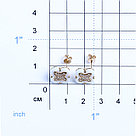 Серьги Teosa серебро с позолотой, фианит, флора SCE-825A-W-G, фото 2
