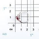 """Кольцо Teosa серебро с родием, рубин фианит, """"halo"""" R-DRGR00832-RB, фото 2"""
