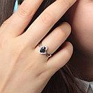 """Кольцо Teosa серебро с родием, сапфир фианит, , """"halo"""" R-DRGR00816-SP, фото 3"""