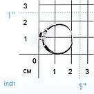"""Кольцо Teosa серебро с родием, гранат фианит, """"halo"""" R-DRGR00826-GR, фото 2"""
