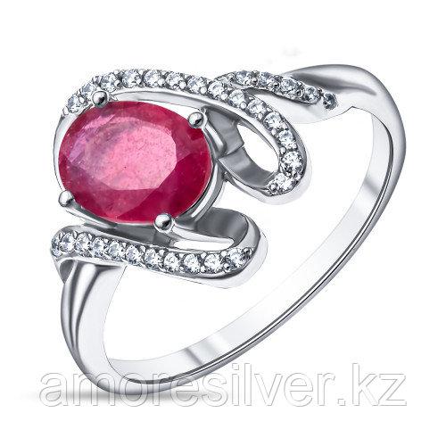 """Кольцо Teosa серебро с родием, рубин фианит, """"halo"""" R-DRGR00833-RB"""