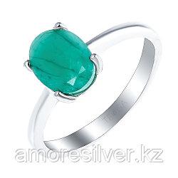 """Кольцо Teosa серебро с родием, изумруд, """"каратник"""" R-DRGR00557-EM"""