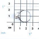 "Кольцо Teosa серебро с родием, фианит, ""линии"" 190-5-371Р, фото 2"