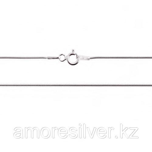 Цепь Teosa серебро с родием, без вставок, снейк круглый GROT-020-40