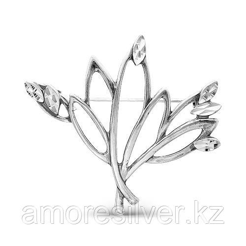 Брошь Красная Пресня из черненного серебра, флора 1307982-5