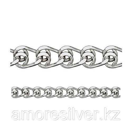 Цепь Адамант серебро с родием, без вставок, лав Ср925Р-100304040