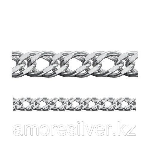 Цепь Адамант серебро с родием, без вставок, ромб двойной Ср925Р-106307050