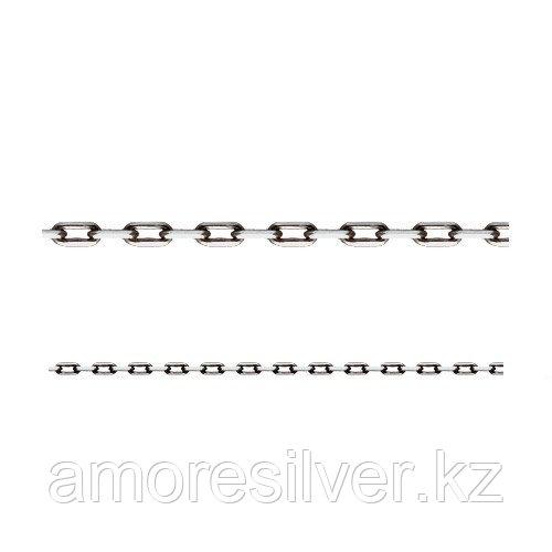 Цепь Адамант серебро с родием, без вставок, якорная Ср925Р-101003040
