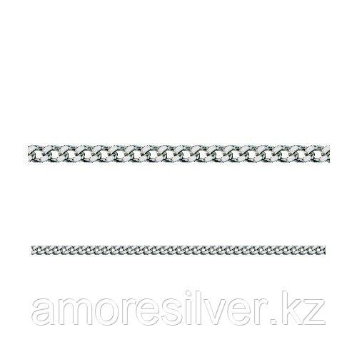 Цепь Адамант серебро с родием, без вставок, панцирная Ср925Р-100703245