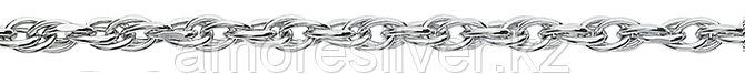 Цепь Teosa серебро с родием, без вставок, кордовая T-ЦЯ240ВА8ПгР-С888