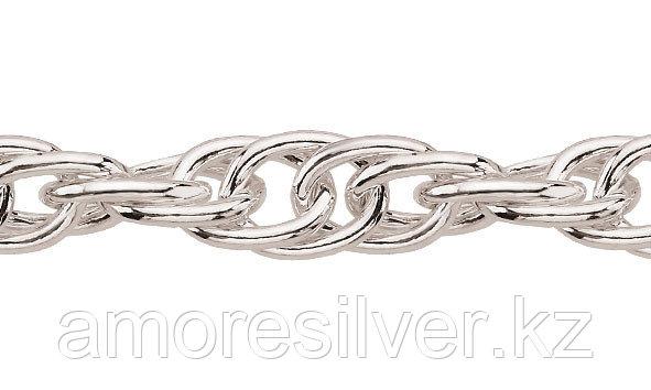 Цепь Teosa серебро с родием, без вставок, кордовая ТКр-35-45