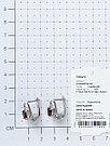 "Серьги Teosa серебро с родием, гранат фианит, ""halo"" E-DRGR00766-GR, фото 3"