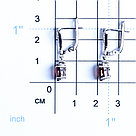 "Серьги Teosa серебро с родием, рубин фианит, ""halo"" E-DRGR00749-RB, фото 2"