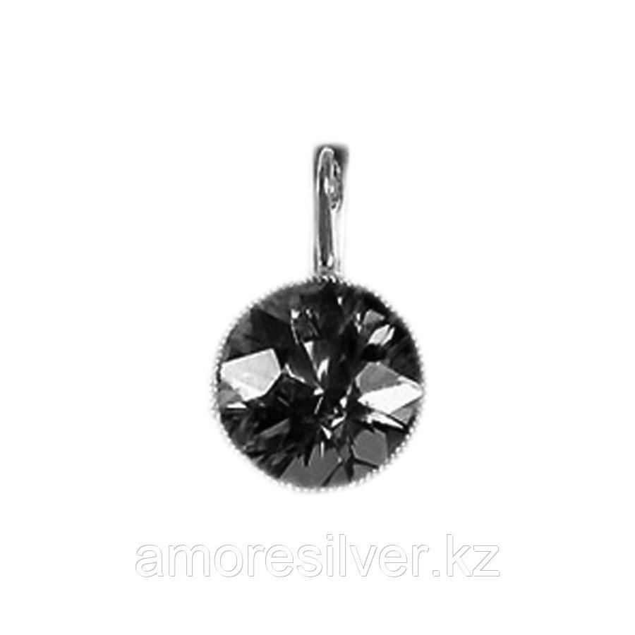 Серьги Teosa серебро с родием, горный хрусталь, круг 43513Р