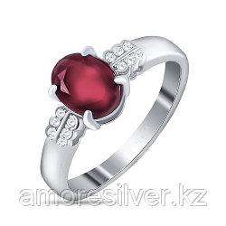 """Кольцо Teosa серебро с родием, рубин топаз, """"halo"""" R-DRGR00640-RB"""