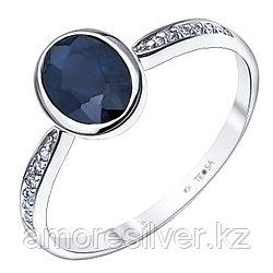 """Кольцо Teosa серебро с родием, сапфир фианит, """"halo"""" R-DRGR00780-SP"""