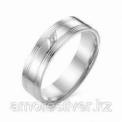 """Кольцо Алькор серебро с родием, бриллиант, """"каратник"""" 01-1219/000Б-00"""