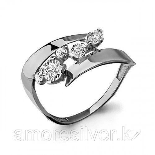 Кольцо Aquamarine серебро с родием, фианит, фантазия 64803А.5 размеры - 17,5 18