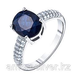 "Кольцо Teosa серебро с родием, сапфир топаз, ""halo"" R-DRGR00681-SP-T"