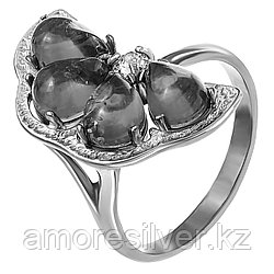 Кольцо Amulet серебро без покрытия, янтарь, флора 1.19 размеры - 17,5 18