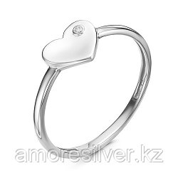"""Кольцо Teosa серебро с родием, бриллиант, """"каратник"""" 1000-0100-DN-r"""